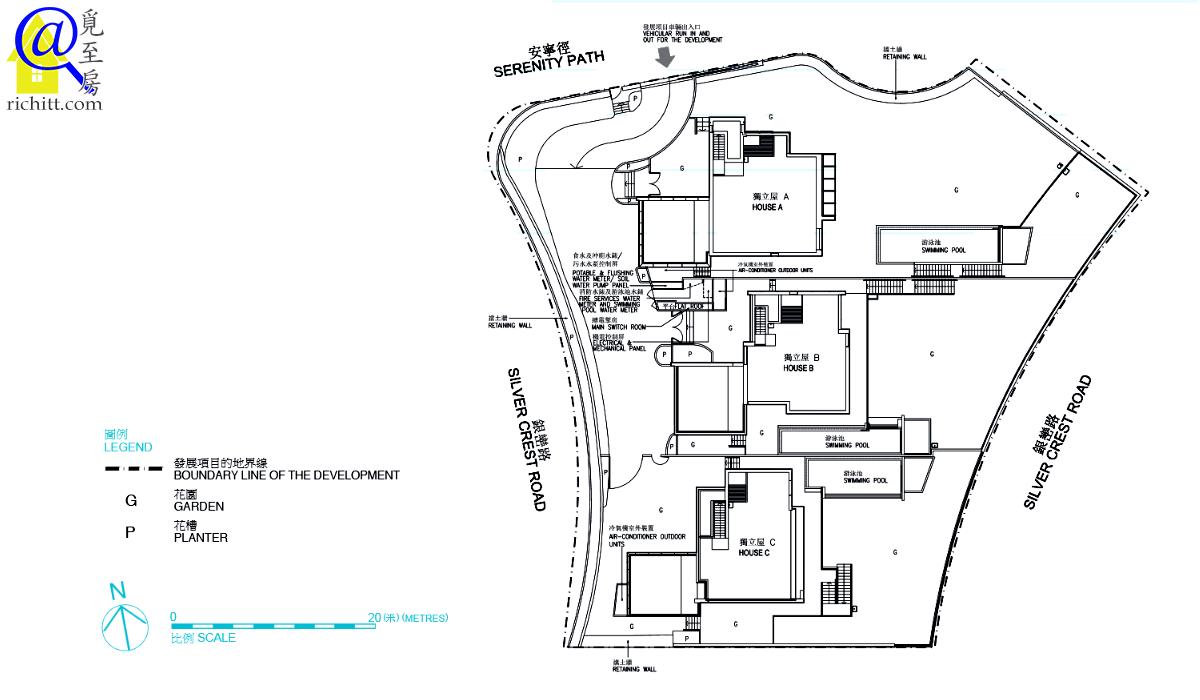 銀景峯佈局圖