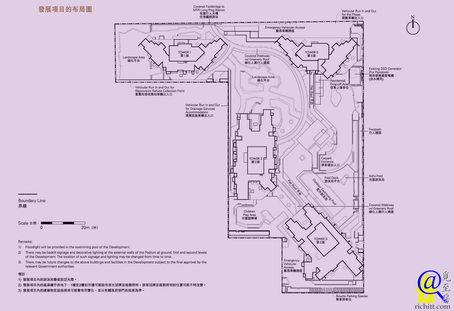 朗城滙佈局圖