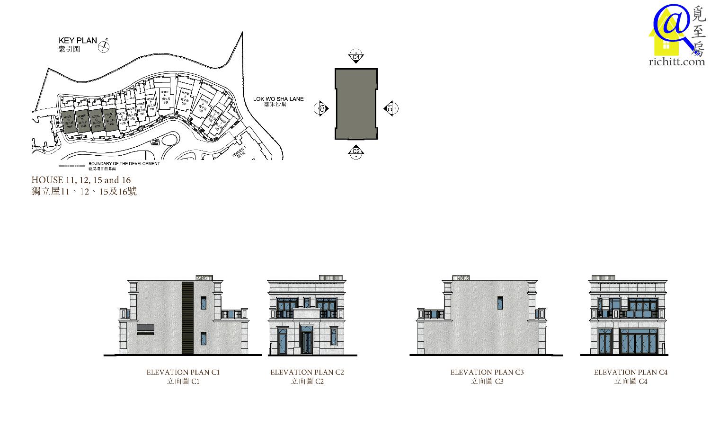 泓碧洋房立面圖3