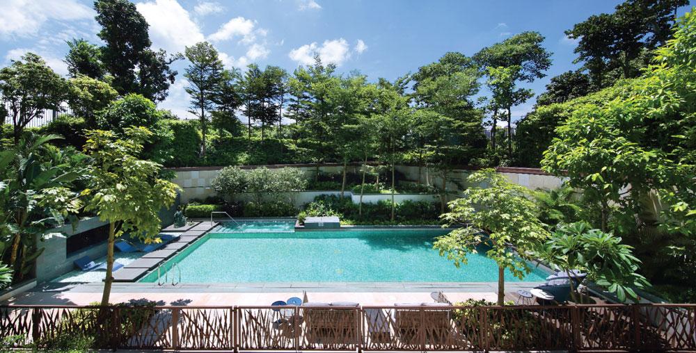 翠雅山戶外泳池 - 取材自項目官方網站