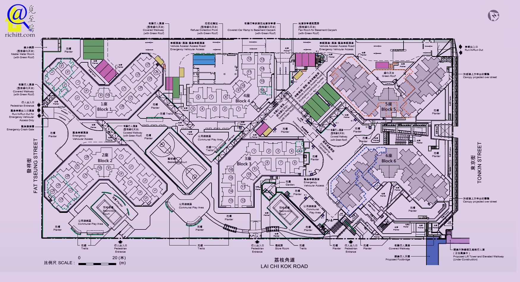 麗翠苑佈局圖