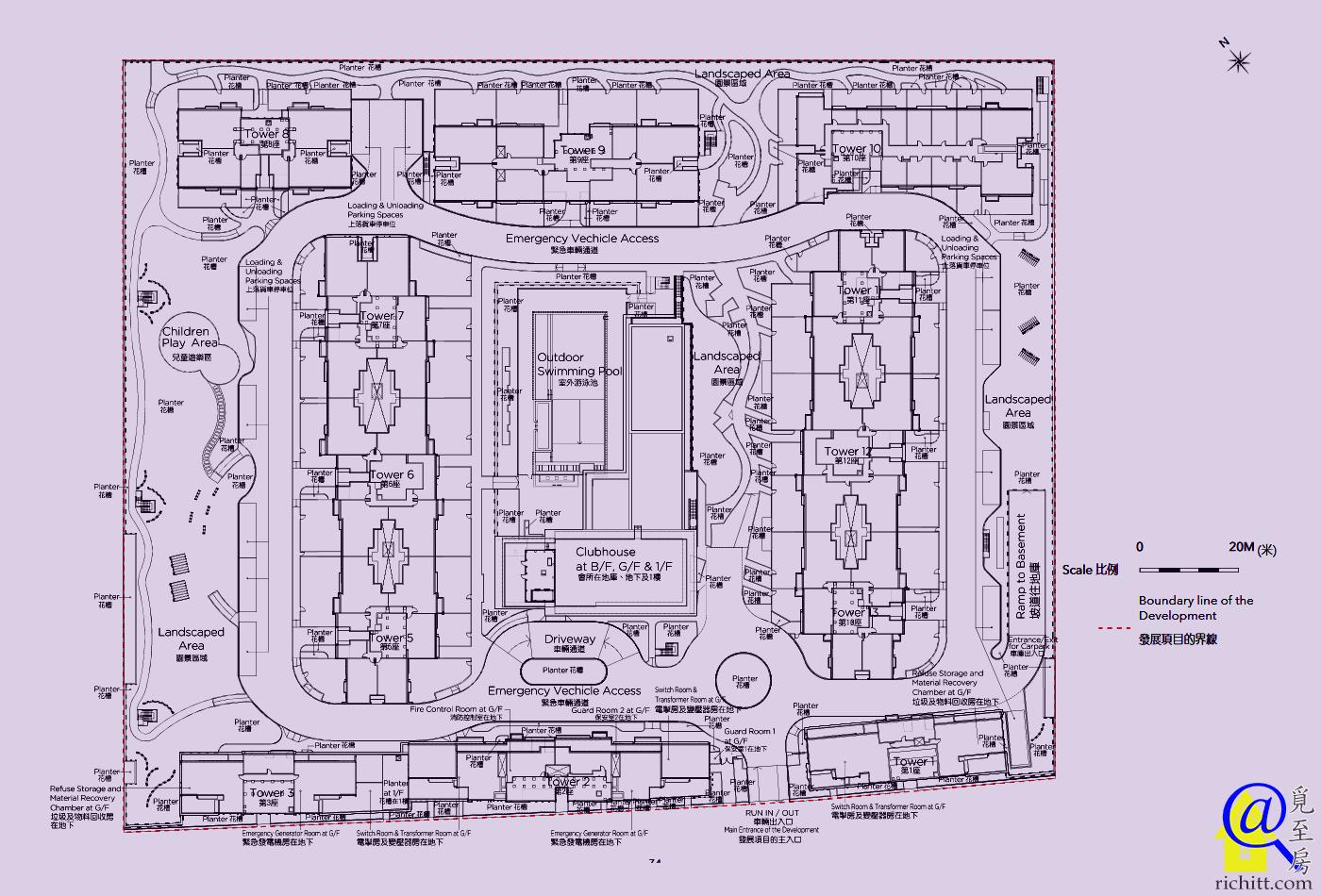 海日灣II佈局圖