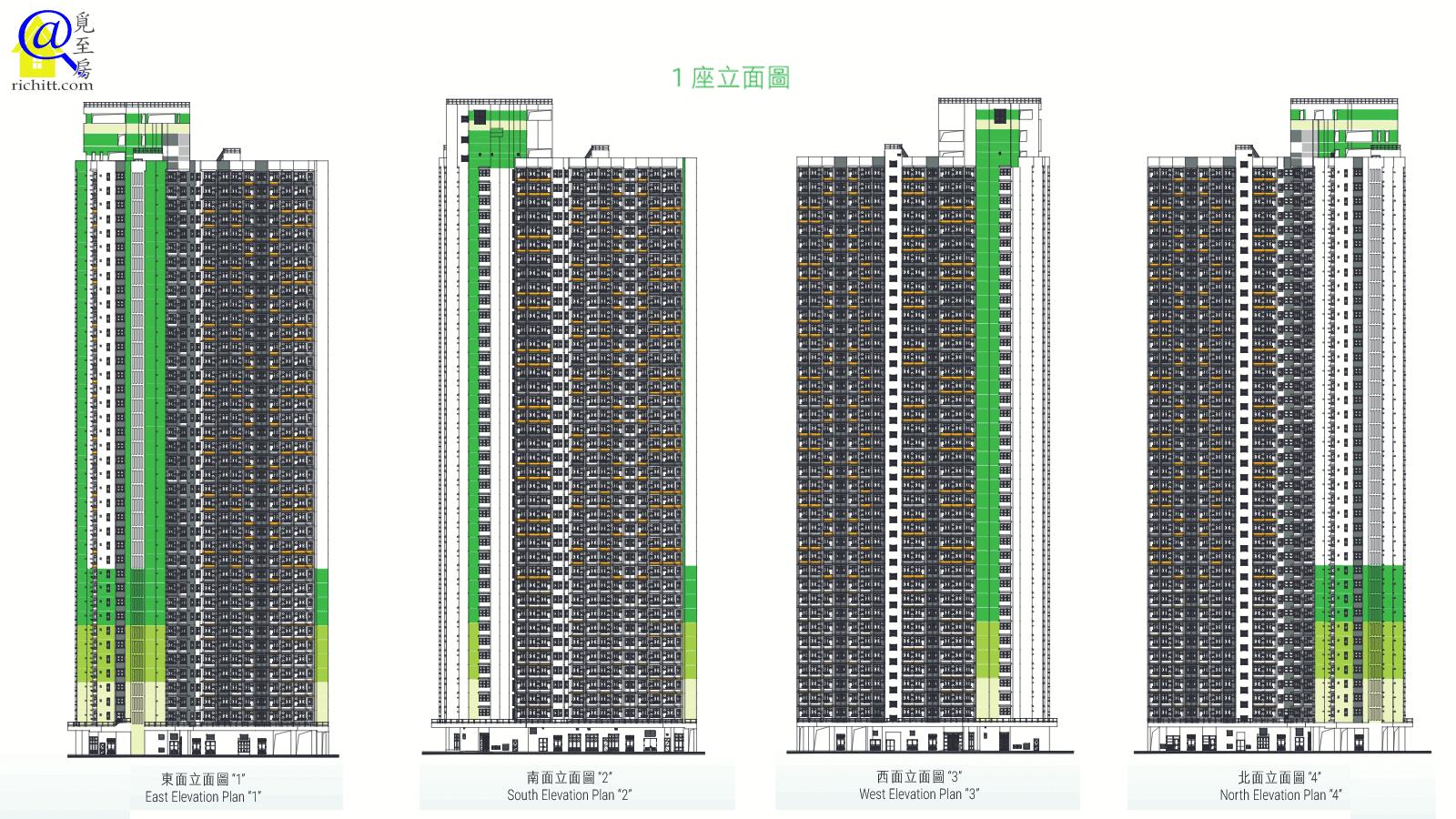 麗翠苑立面圖1