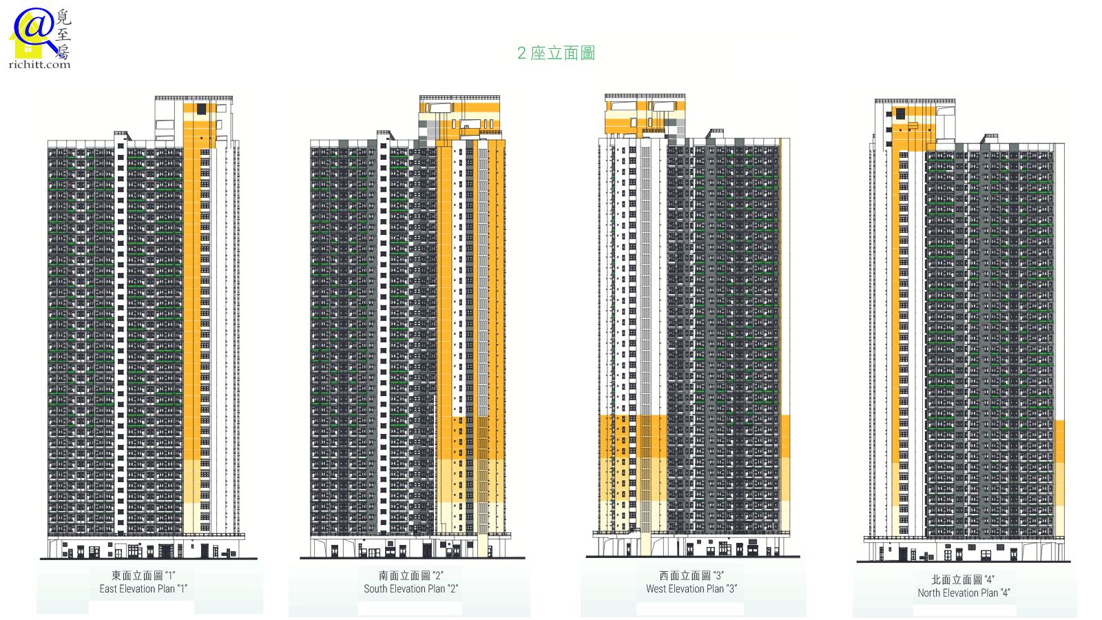 麗翠苑立面圖2