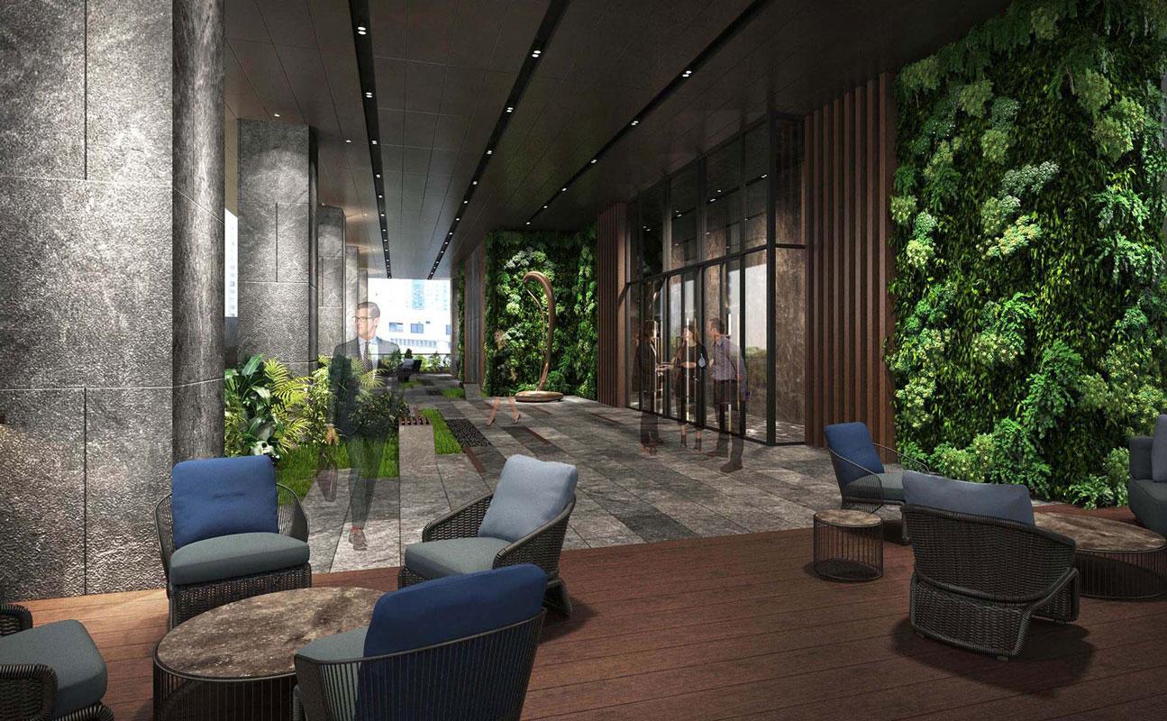 電氣道218號平台花園模擬外觀