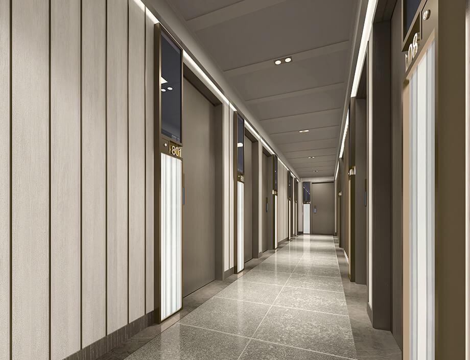 AOffice 46標準樓層走廊模擬圖